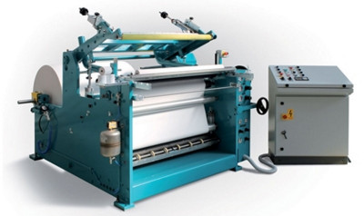 Slitter rewinder for cash register rolls La Meccanica Fumagalli TRL